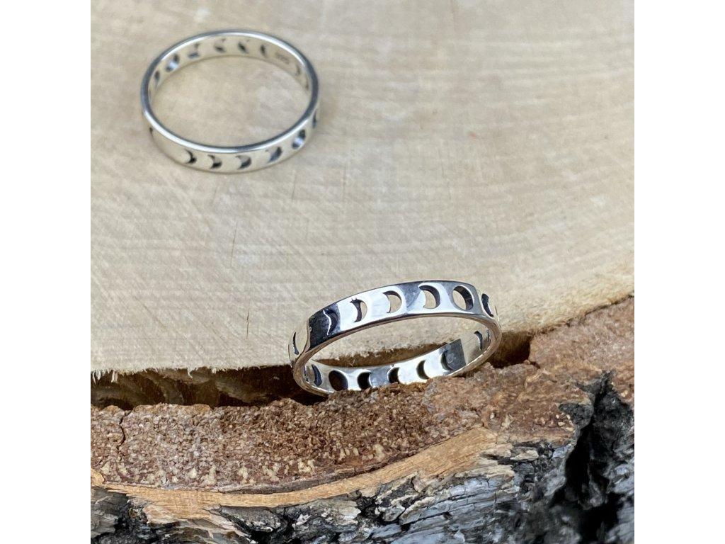 Stříbrný prstýnek Měsíční fáze  Ag 925/1000