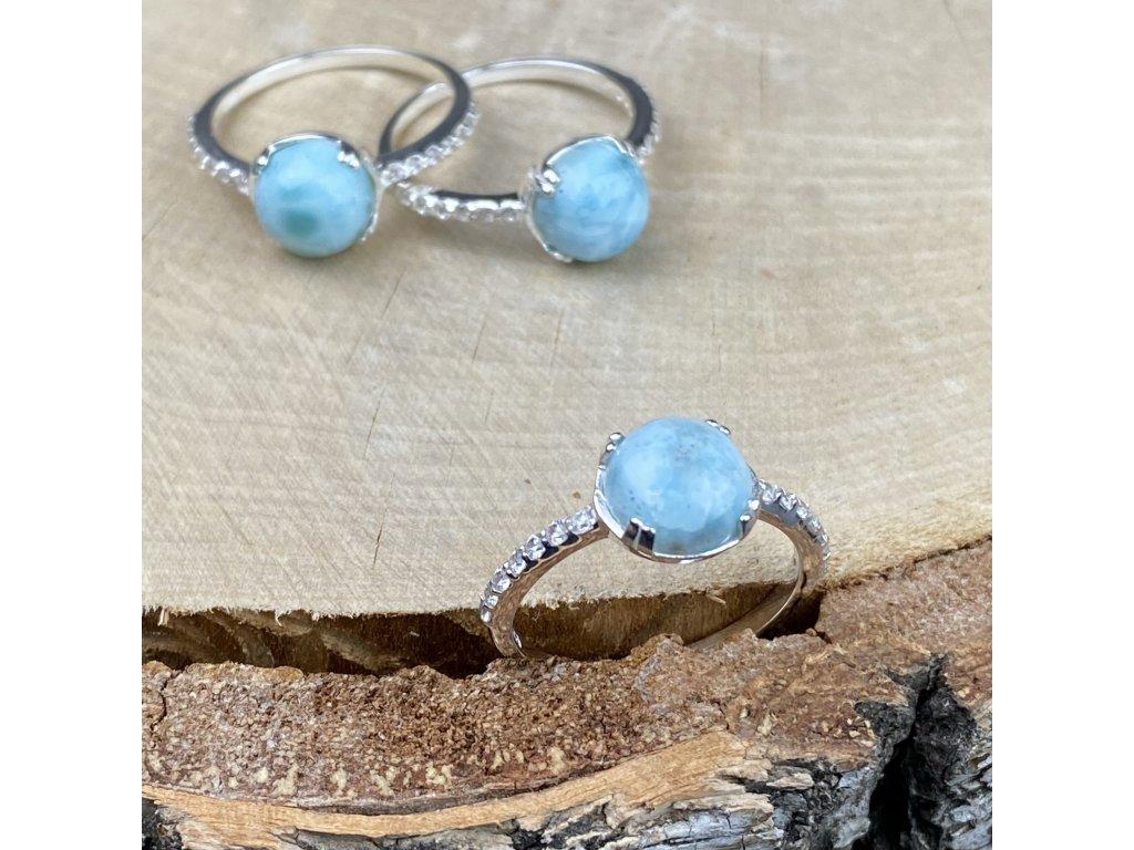Stříbrný prsten La Precia s Larimarem  Ag 925/1000
