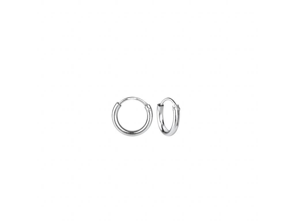 Stříbrné náušnice kruhy 8 mm  Ag 925/1000