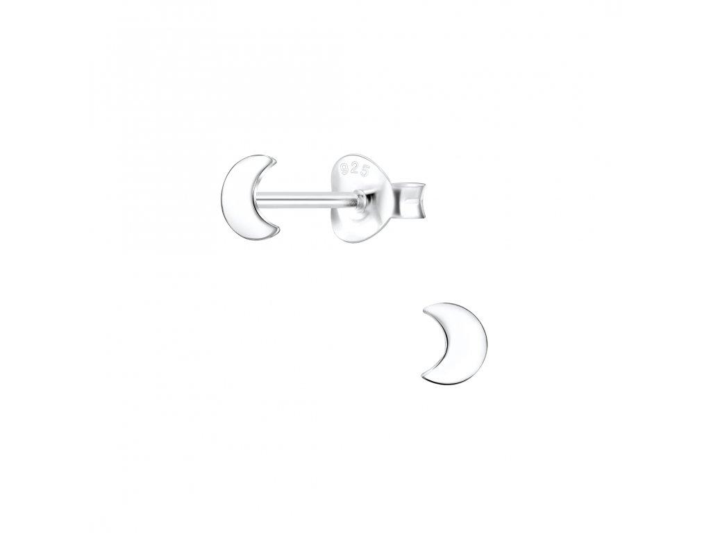 Stříbrné náušnice Měsíc  Ag 925/1000