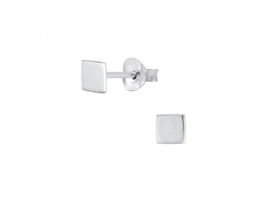 Stříbrné náušnice Square  Ag 925/1000