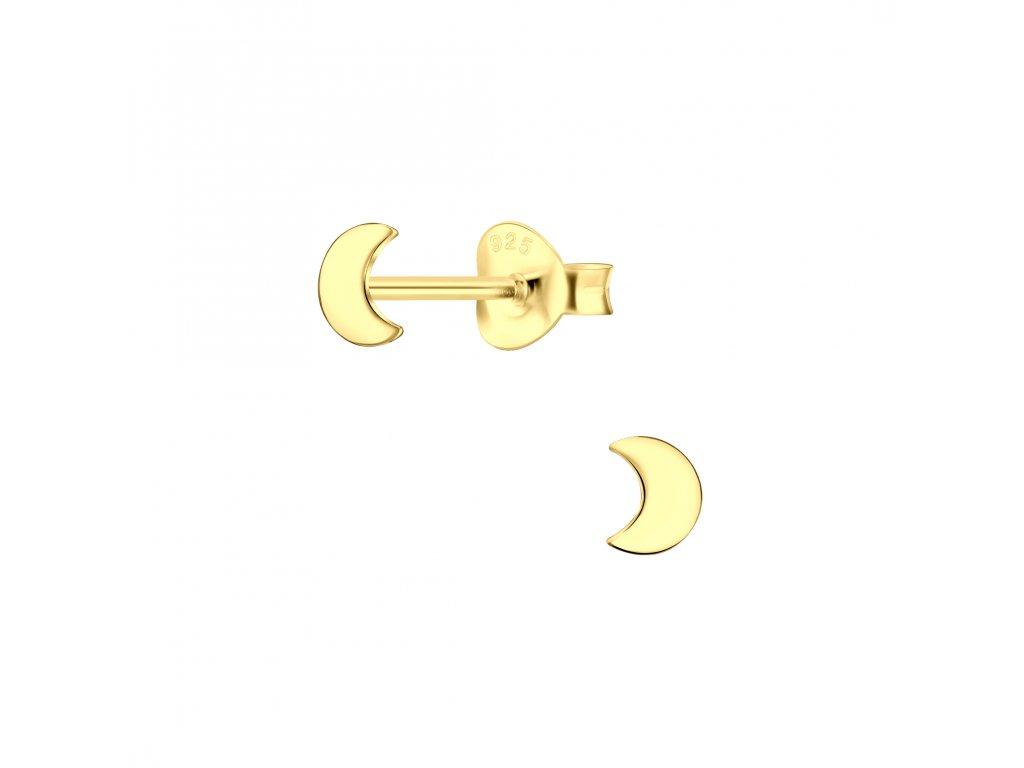 Pozlacené náušnice Měsíc  Ag 925/1000