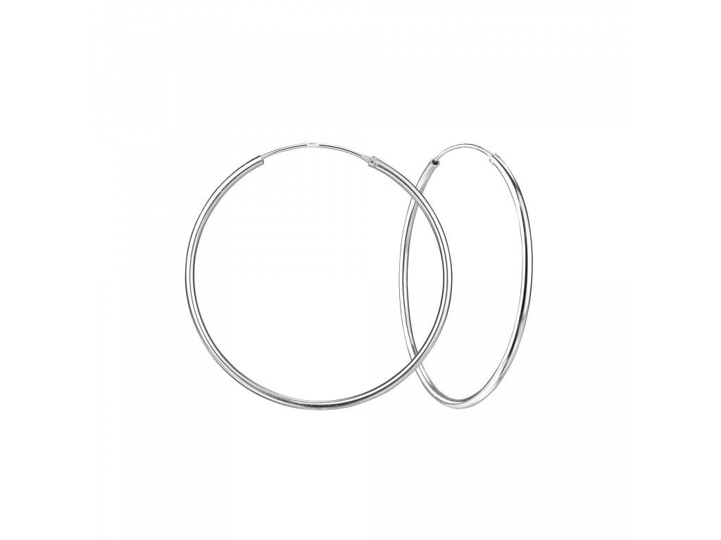 Stříbrné náušnice kruhy 50 mm  Ag 925/1000