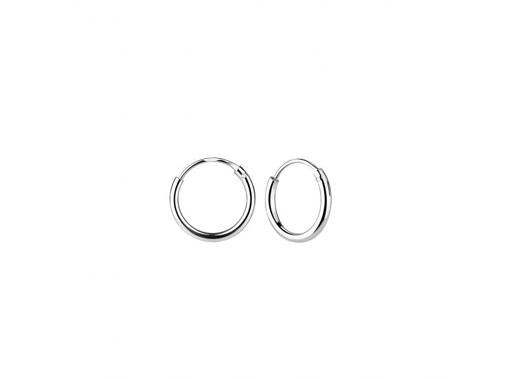 Stříbrné náušnice kruhy 10 mm  Ag 925/1000