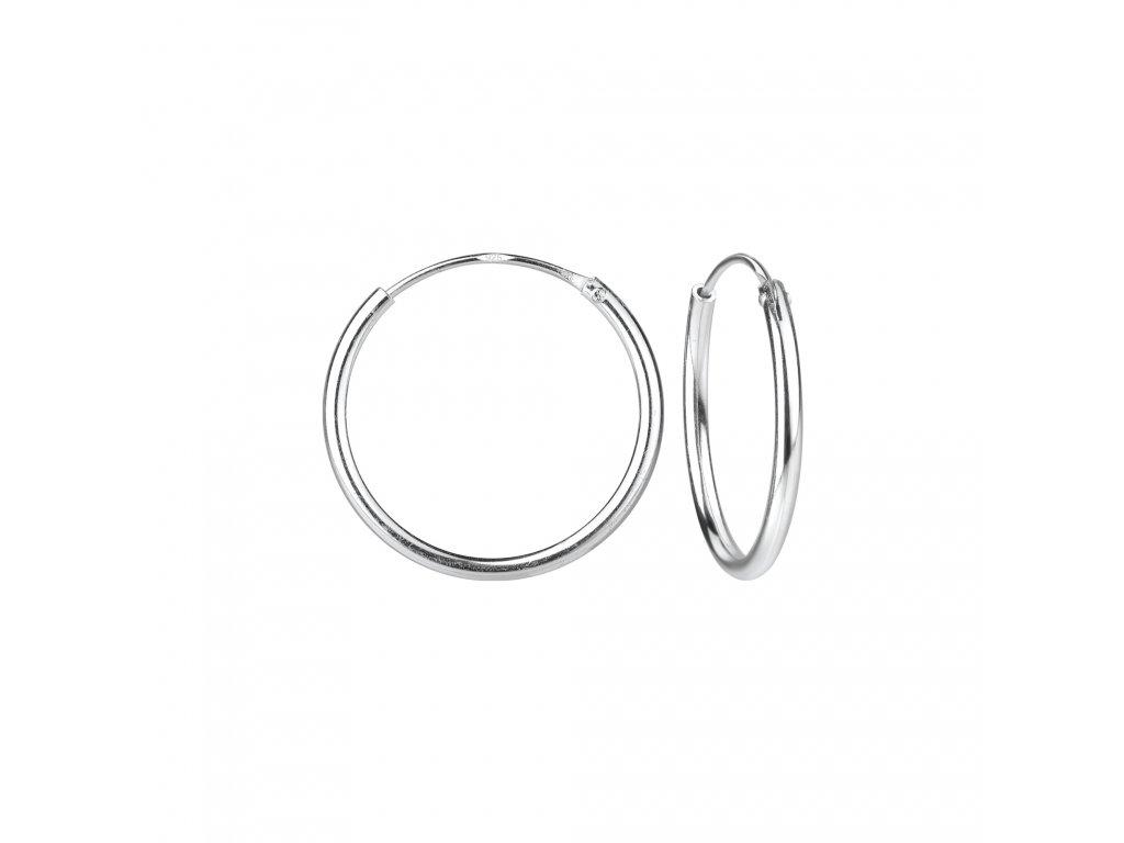 Stříbrné náušnice kruhy 16 mm  Ag 925/1000