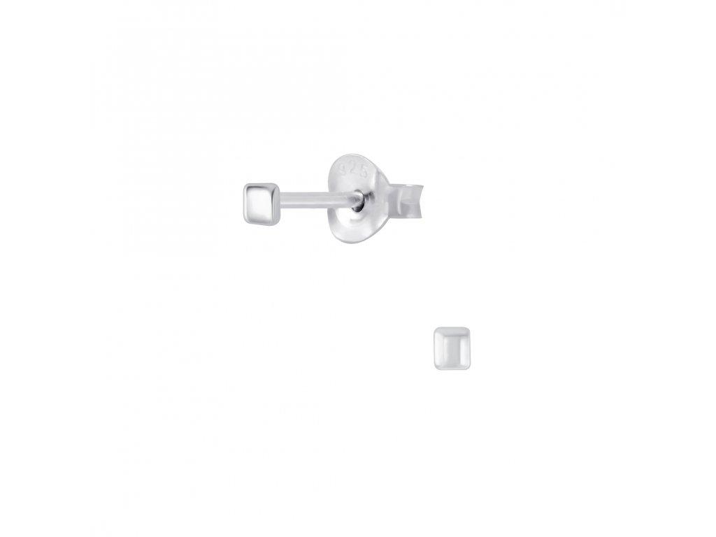 Stříbrné náušnice Square 2mm  Ag 925/1000