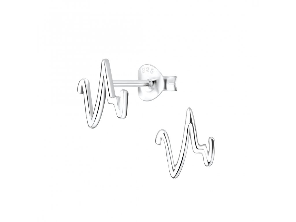 Stříbrné náušnice Heartbeat  Ag 925/1000