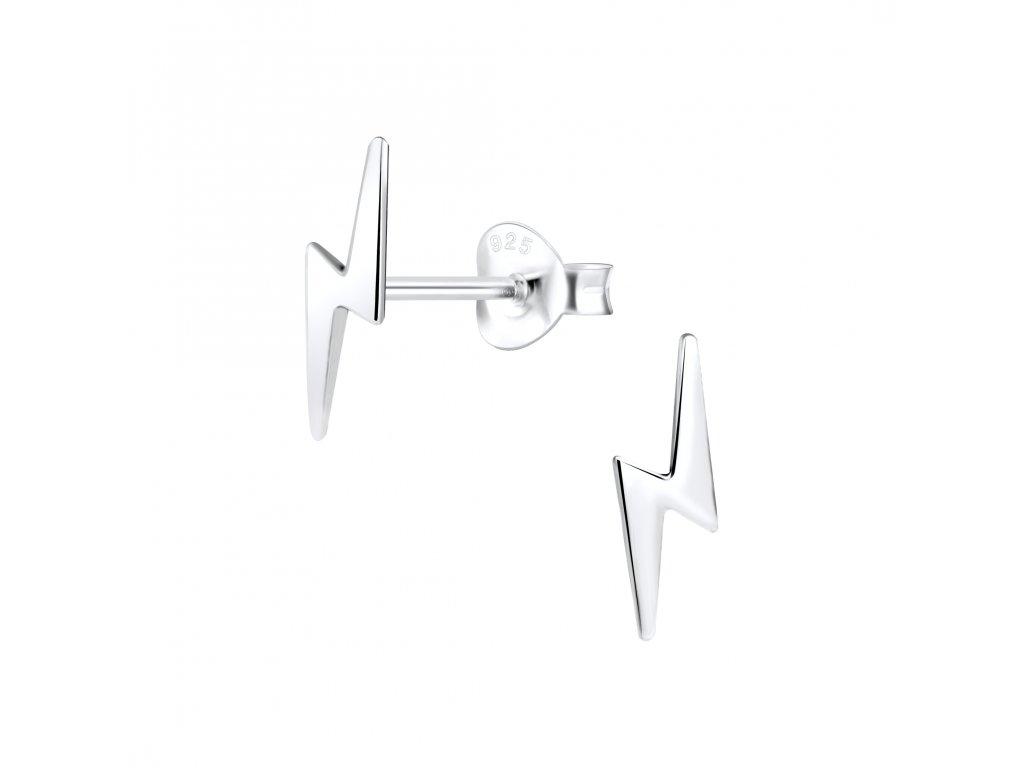Stříbrné náušnice Blesk  Ag 925/1000