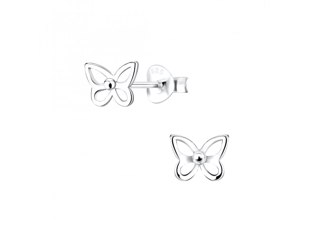 Stříbrné náušnice Motýl  Ag 925/1000