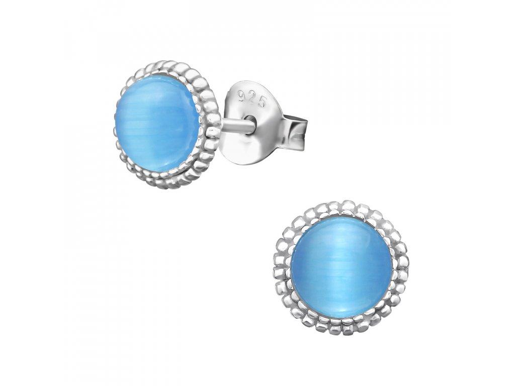 ES JB7332 CE 30283 Blue Cat Eye