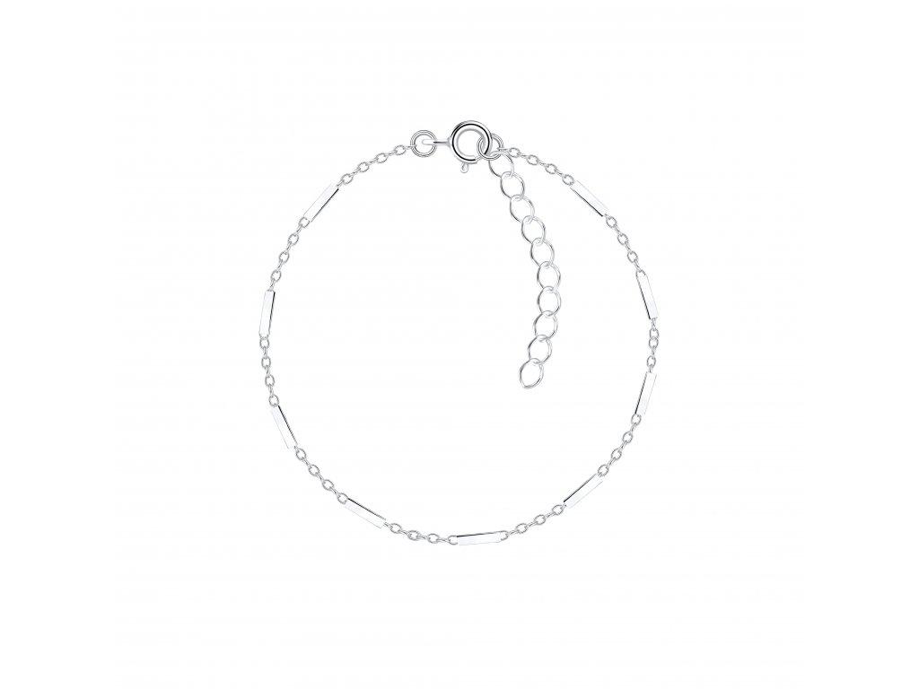 Stříbrný náramek Cable Bar  Ag 925/1000