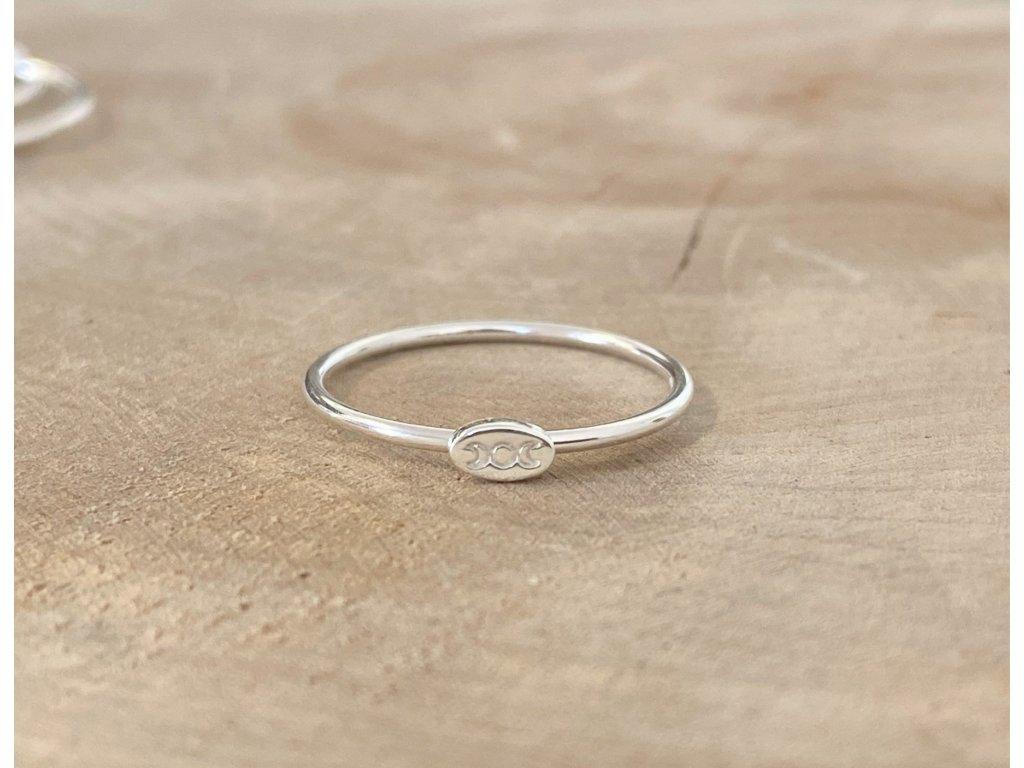Stříbrný prstýnek Měsíční fáze II  Ag 925/1000