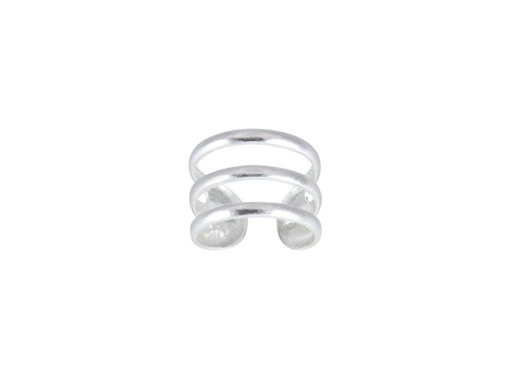 Stříbrná záušnice Triple Line  Ag 925/1000