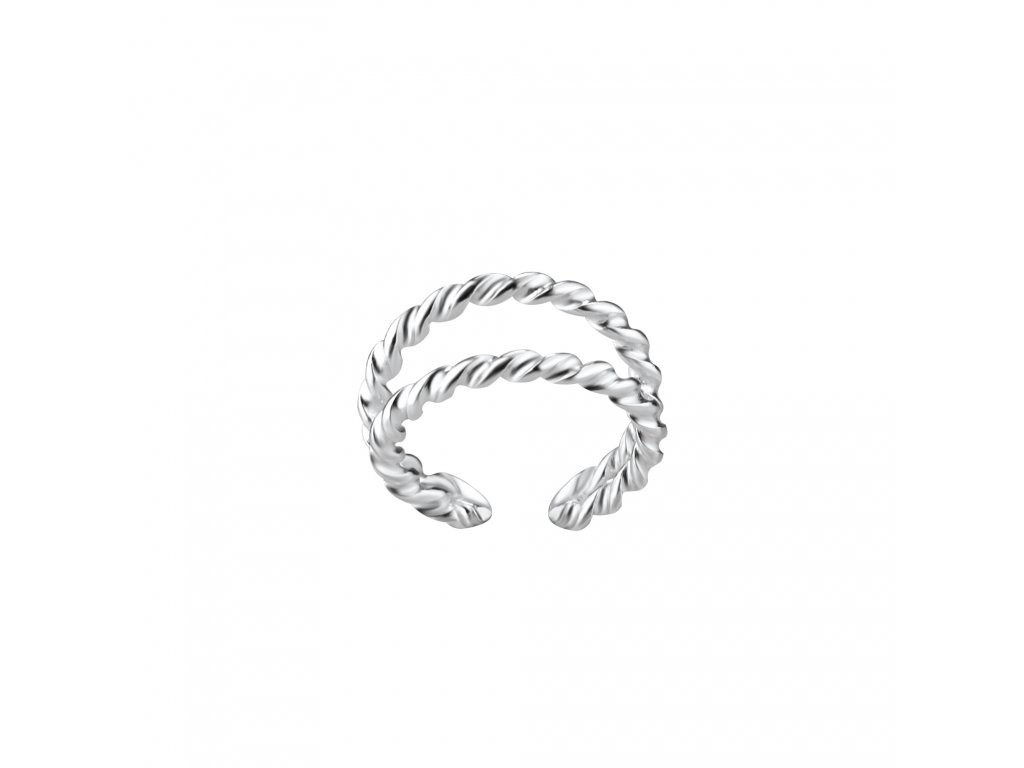 Stříbrná záušnice Double Line Twisted  Ag 925/1000