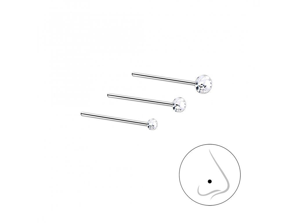 Stříbrný set piercingů VII - 3ks