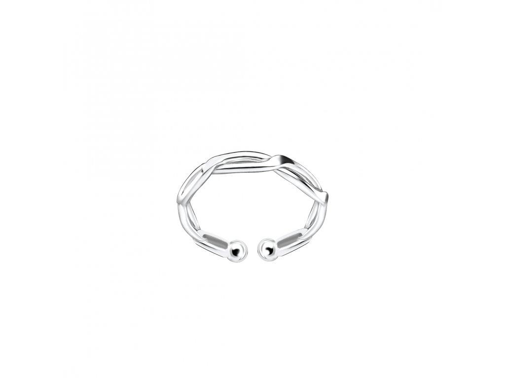 Stříbrná záušnice kroucená 10mm  Ag 925/1000