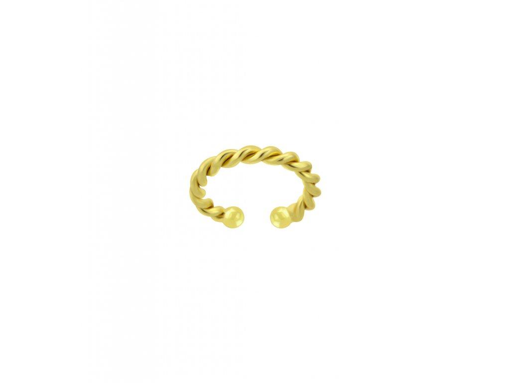 Pozlacená záušnice Line Twisted  Ag 925/1000