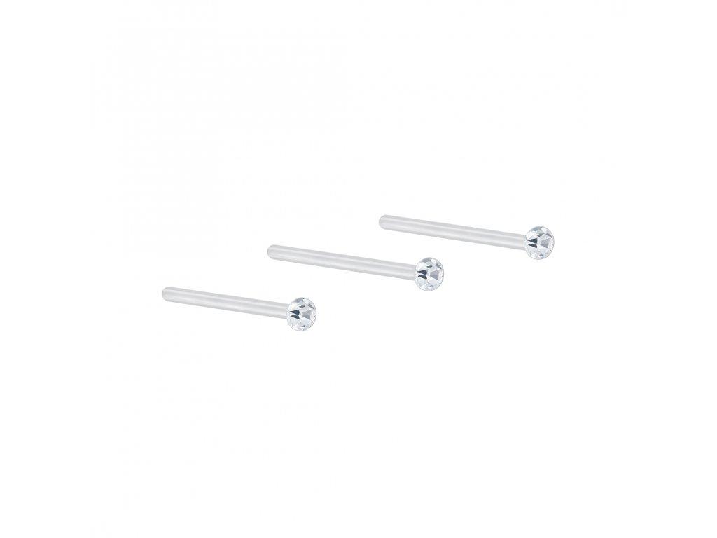 Stříbrný set piercingů XI - 3ks  Ag 925/1000