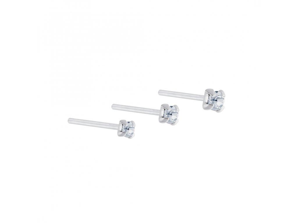 Stříbrný set piercingů XII - 3ks  Ag 925/1000