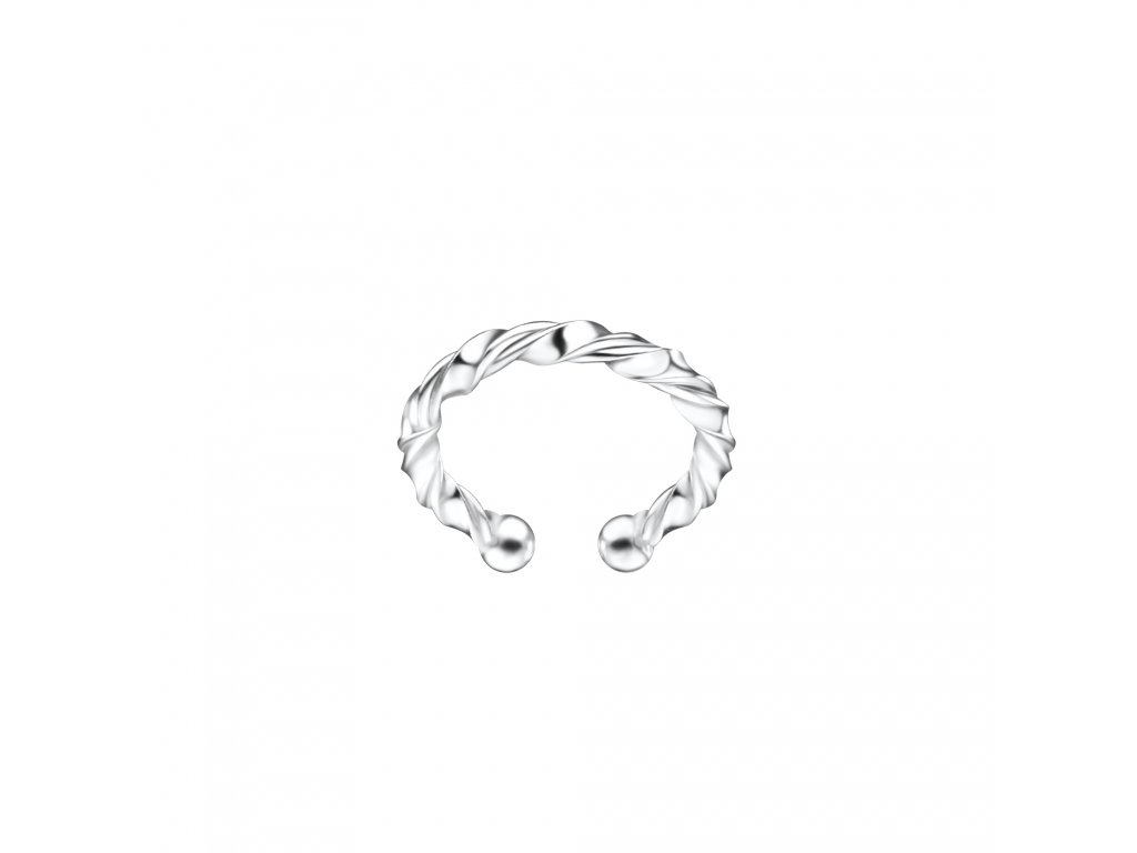Stříbrná záušnice Line Twisted  Ag 925/1000