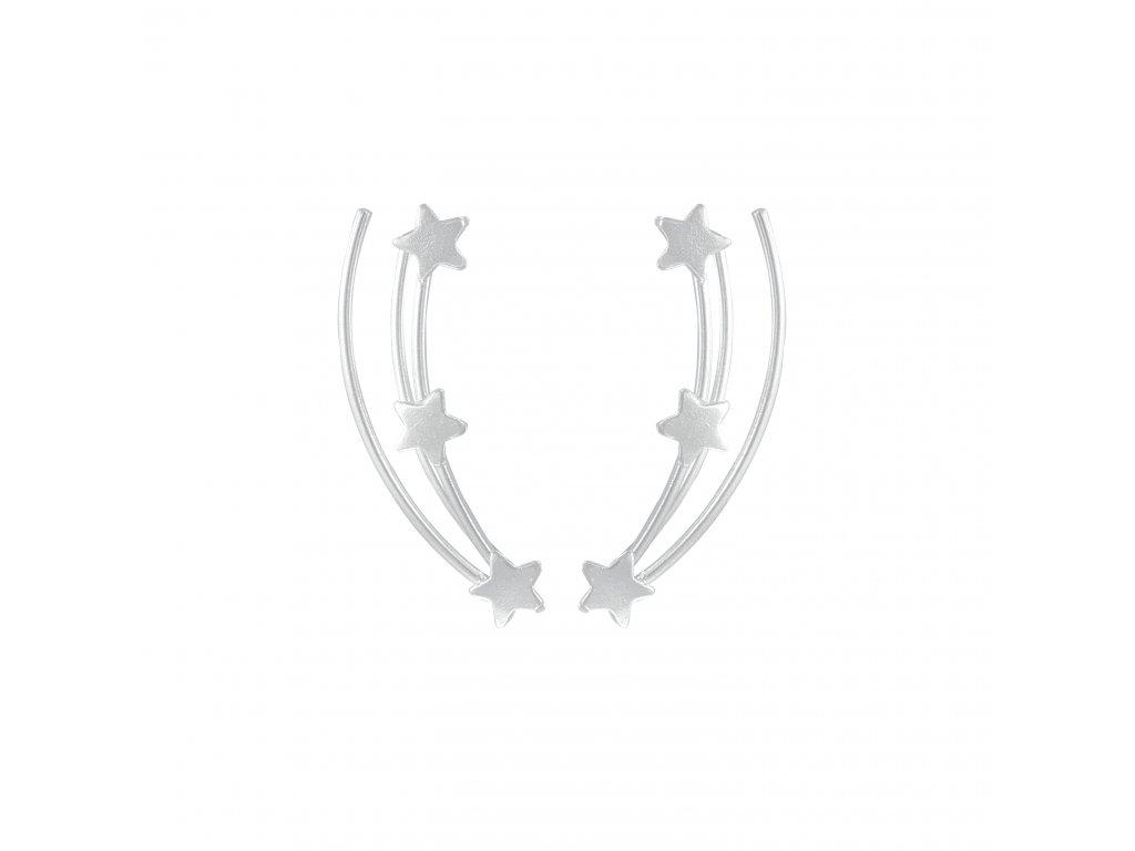 Stříbrné náušnice s hvězdičkami  Ag 925/1000