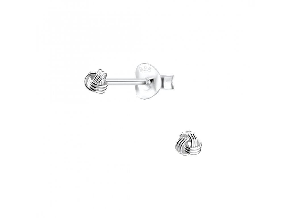 Stříbrné náušnice UZEL 3 mm  Ag 925/1000