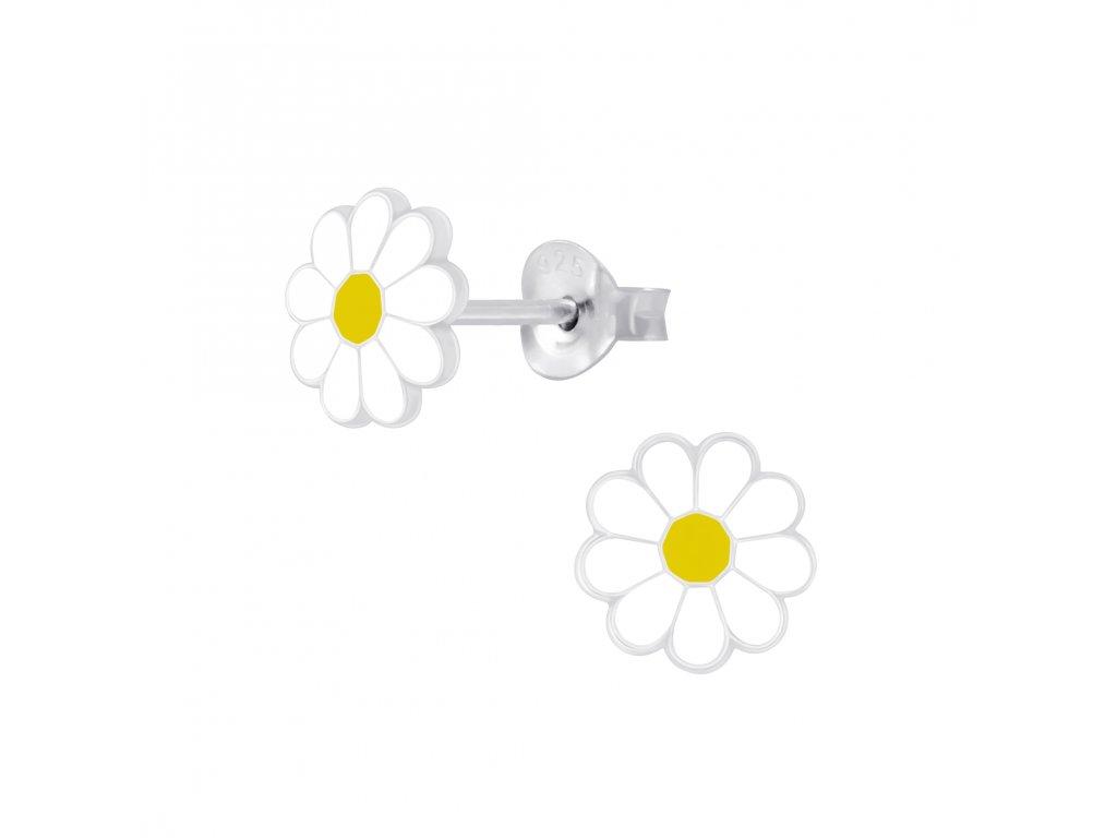 Dětské stříbrné náušnice s kytičkou  Ag 925/1000