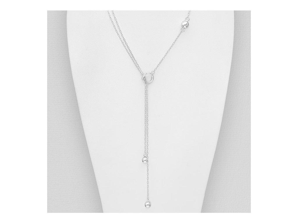 Stříbrný provlékací náhrdelník Ball  Ag 925/1000