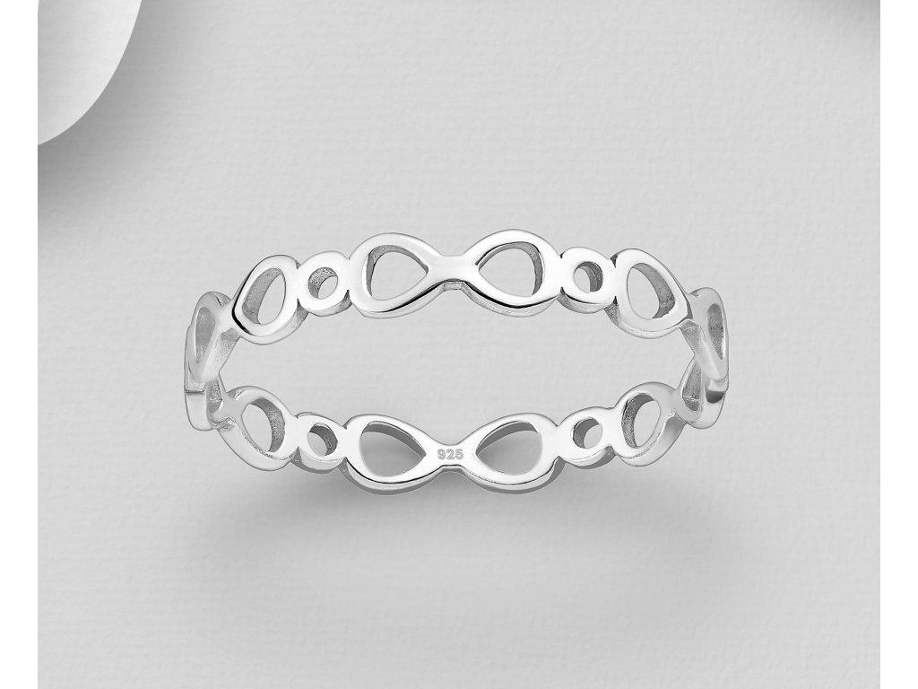 Stříbrný prstýnek Nekonečno  Ag 925/1000