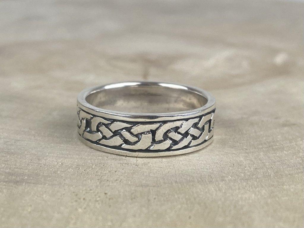 Stříbrný prsten pro muže Celtic oxidovaný 7 mm  Ag 925/1000
