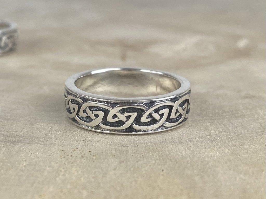 Stříbrný prsten pro muže Celtic oxidovaný 6 mm  Ag 925/1000