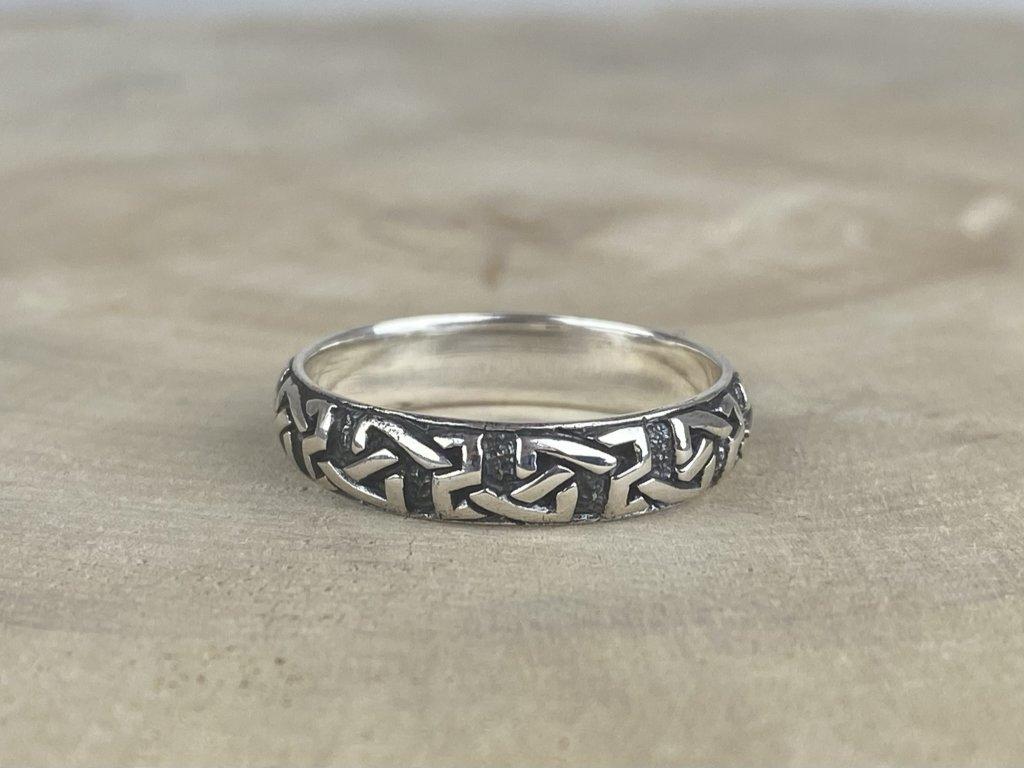 Stříbrný prsten pro muže Celtic oxidovaný 5 mm  Ag 925/1000