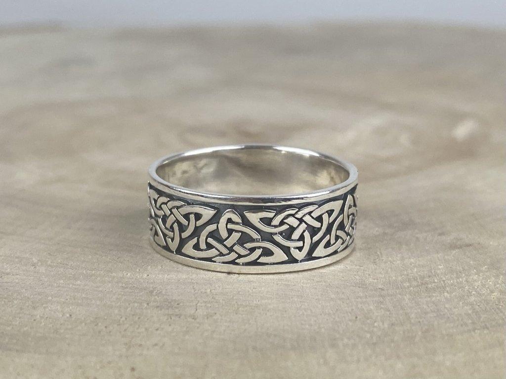 Stříbrný prsten pro muže Celtic II oxidovaný 8 mm  Ag 925/1000