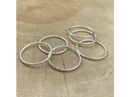 Stříbrný prsten kroužek