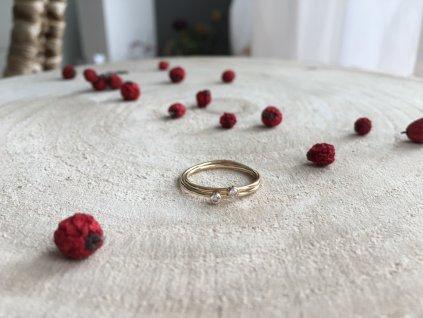 Gold filled prsten se Zirkonem (Velikost 9/60)