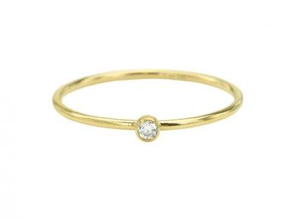 Gold filled prsten se Zirkonem