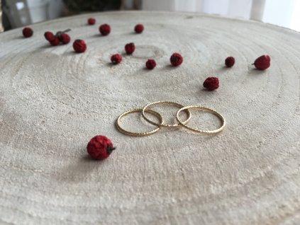 Gold filled prsten kroužek (Velikost 8/57)