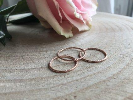 Rose Gold filled prsten kroužek (Velikost 8/57)