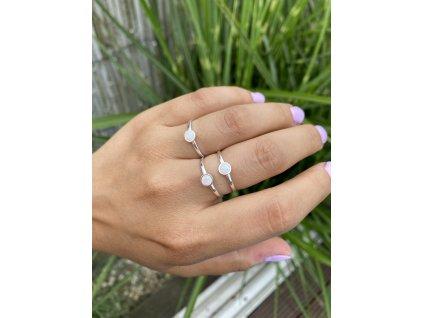Stříbrný prstýnek Fire Opal  Ag 925/1000