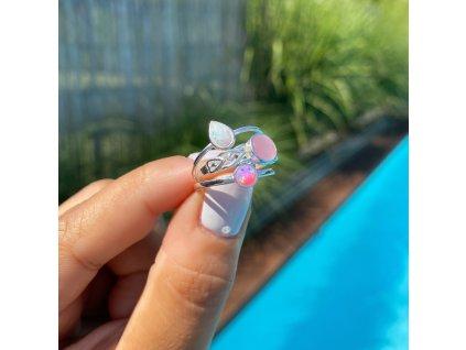 Stříbrný prstýnek Pink (Velikost 8/57)