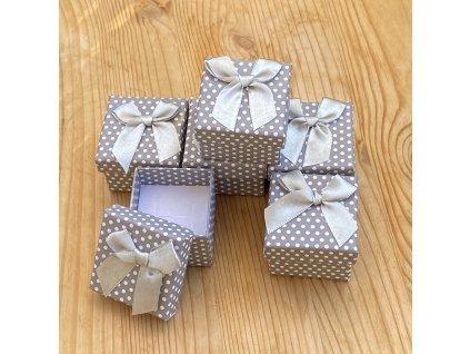 Dárková krabička na náušnice nebo prstýnek šedá