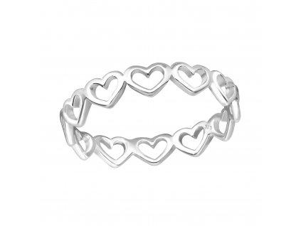 Stříbrný prstýnek Heart (Velikost 9/60)