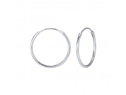 3974 stribrne nausnice kruhy 18 mm