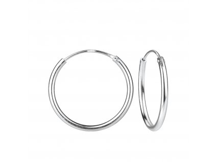 3986 stribrne nausnice kruhy 20 mm