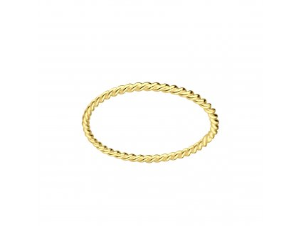 Gold prstýnek kroužek kroucený (Velikost 8/57)