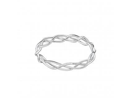 Stříbrný proplétaný prstýnek (Velikost 8/57)