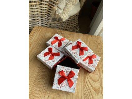 Dárková krabička na náušnice nebo prstýnek red