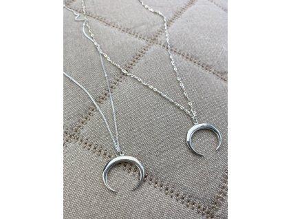 Náhrdelník Půlměsíc Silver  Ag 925/1000