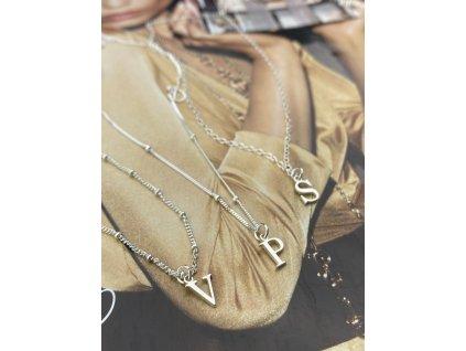 Stříbrný náhrdelník s písmenem  Ag 925/1000