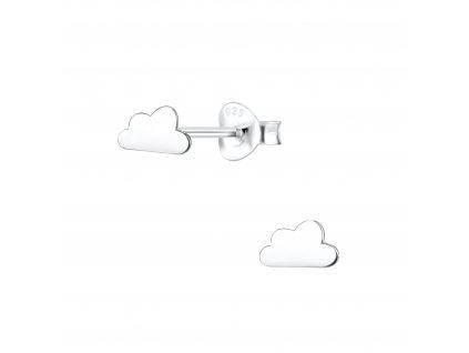 Stříbrné náušnice obláček  Ag 925/1000